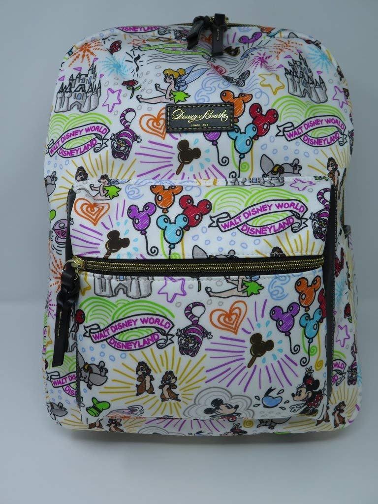 Disney Parks Sketch Backpack by Dooney & Bourke Mickey Minnie Cinderella Castle Mickey & Minnie