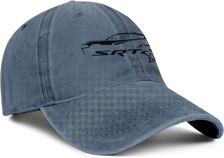 Men Women Hat SRT-Logo Snapback Hats Baseball Denim Cap Adjustable Fits Caps