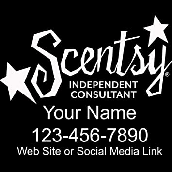 Amazoncom  Basic Vinyl Scentsy Independent Consultant - Custom car decals for business   how to personalize