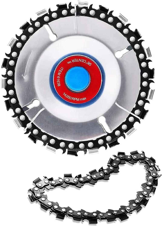Amoladora angular de disco de cadena para carpintería con disco de cadena Máquina de pulir y cortar Disco Diente Hoja de sierra de cadena Material de alta calidad
