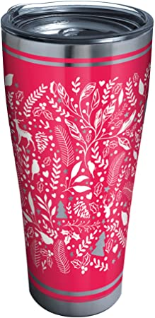 Amazon Com Tervis 1335008 Foliage And Fern Stainless Steel Insulated Tumbler With Clear And Black Hammer Lid 30 Oz Silver Tumblers Water Glasses
