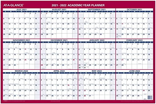 At A Glance Wall Calendar 2022.Amazon Com 2021 2022 Erasable Calendar Dry Erase Wall Planner By At A Glance 36 X 24 Large Academic Regular Year Double Sided Horizontal Pm200s28 Office Products