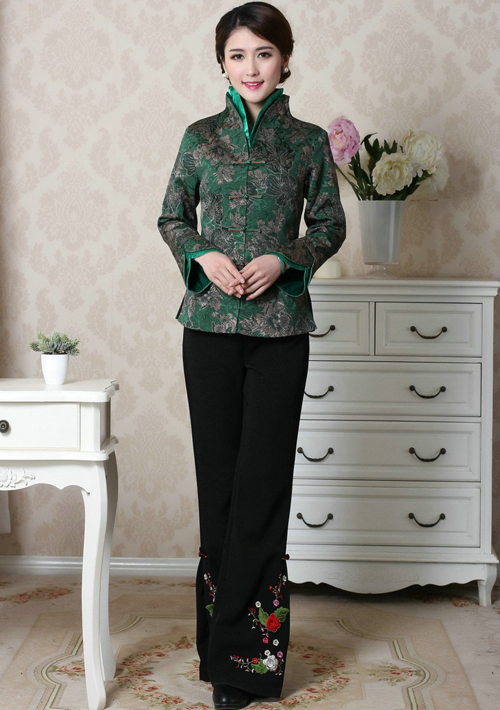Womens Tang Suits Chinese Style Coats Retro Jackets Full Dress Formal Dress Womens Jackets Business Jackets by Womens Tang Suit (Image #5)