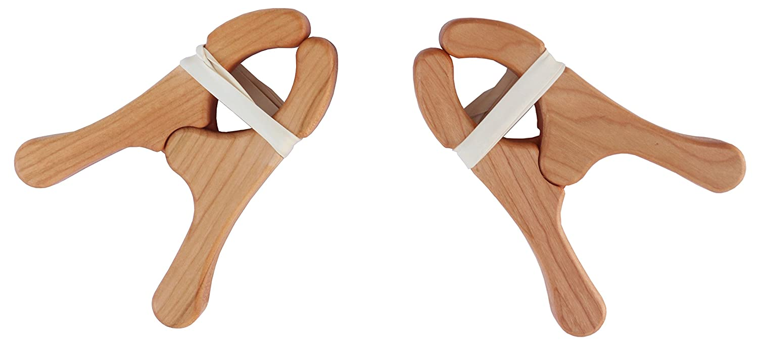 Sarah's Silks Cherry Wood Play Clips Available in Sets of 2 and 4 (4) Sarah's Silks