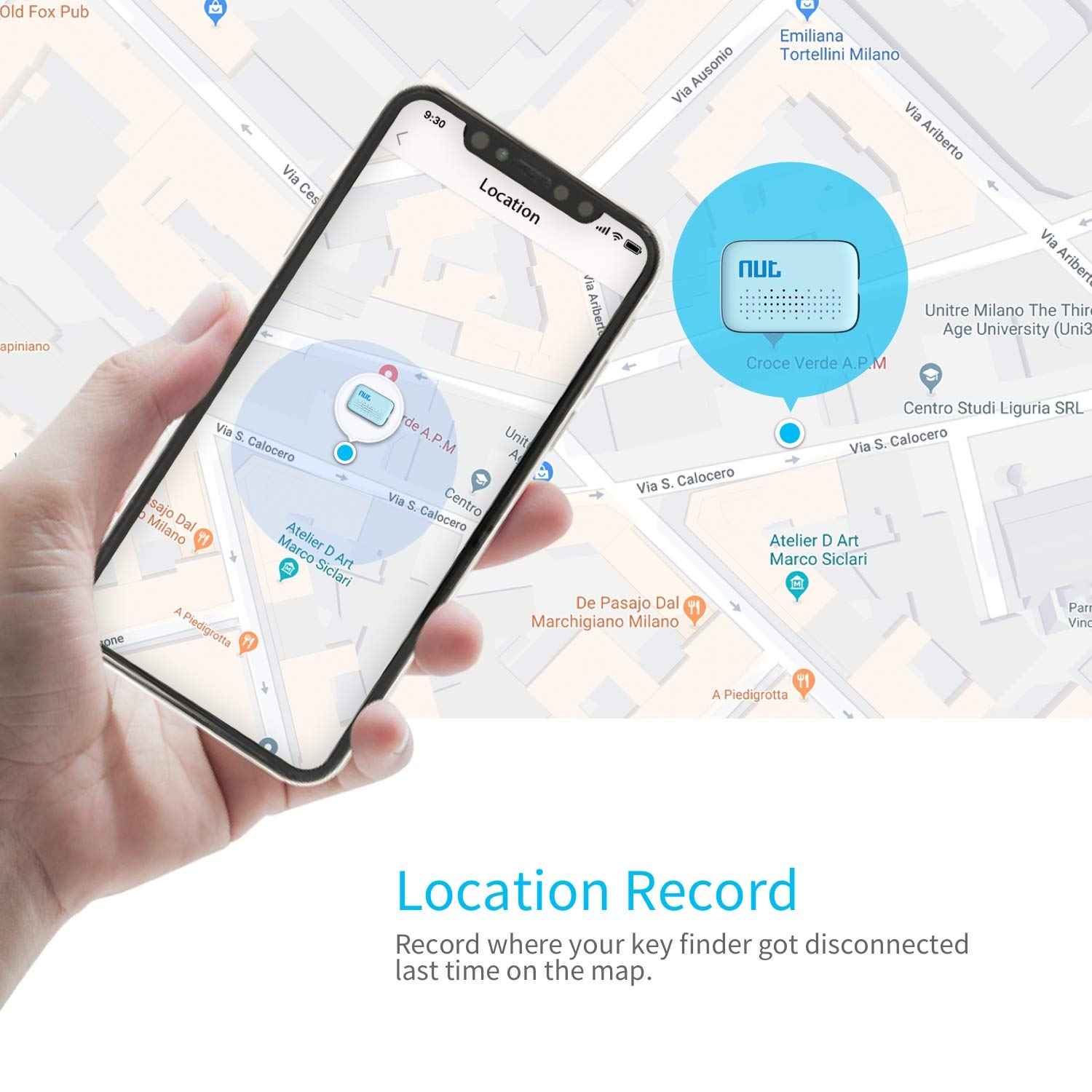Mini Key Finder White Phones Wallets Wonbo Anti-Lost Bluetooth Tracking Locator for Keys Bags with APP Control Compatible with iOS /& Android