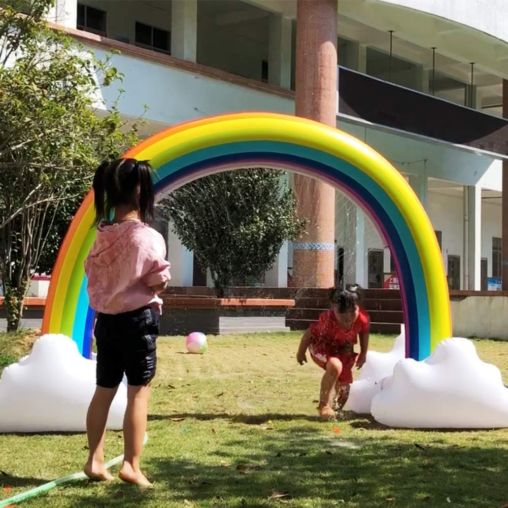 ONEPACK Inflatable Sprinkler Giant Inflatable Archway Outdoor Water Toys Fun for Kids,Toddlers and Babies by ONEPACK (Image #3)