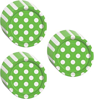 Lime Green Polka Dot Dessert Plates - 24 Pieces  sc 1 st  Amazon.com & Amazon.com: Lime Green Polka Dot Paper Plates 8ct: Kitchen u0026 Dining