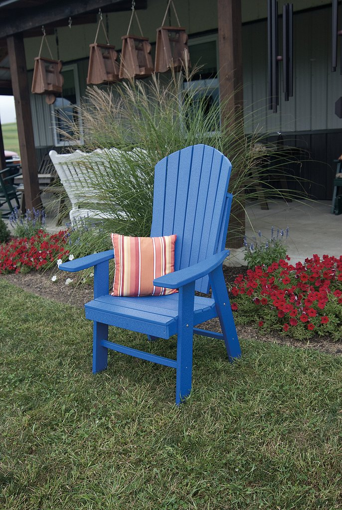 Gentil Amazon.com : POLY Upright Adirondack Chair   Amish Made USA   Bright Red :  Garden U0026 Outdoor
