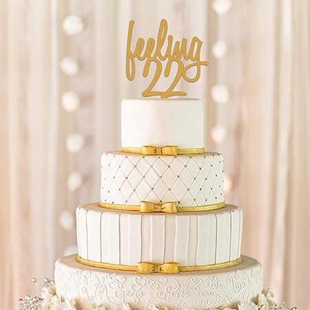 Enjoyable Feeling 22 Cake Topper Feeling 22 22Nd Birthday Cake Topper Personalised Birthday Cards Epsylily Jamesorg