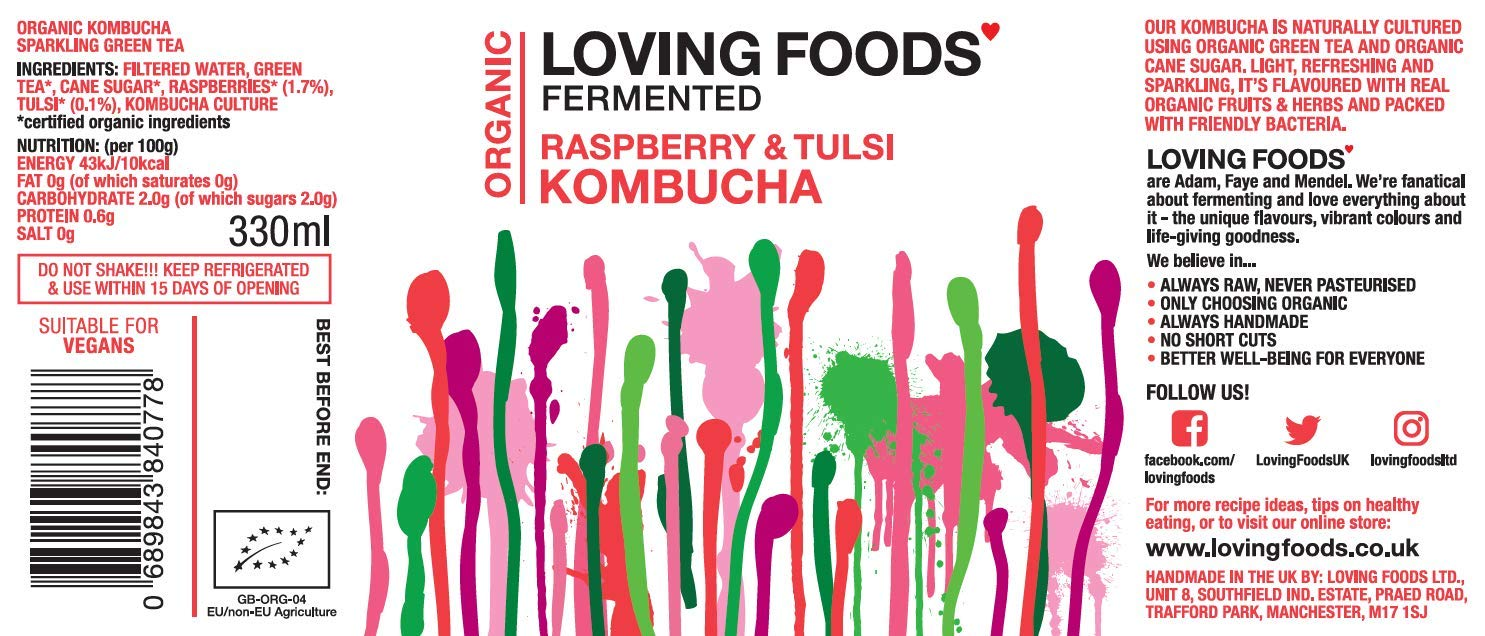 Loving Foods Orgánico Kombucha & Jun Mixto (330ml) CRUDO ...