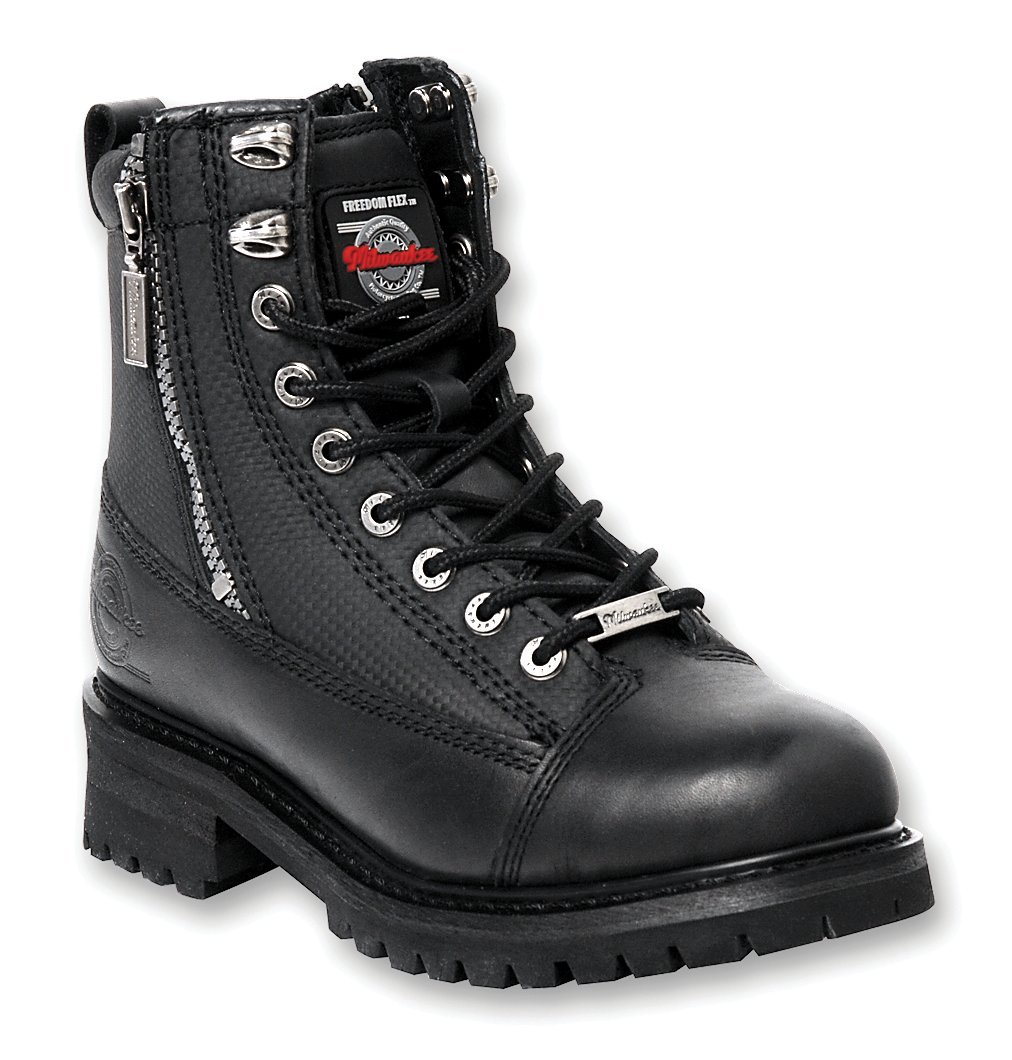 Milwaukee Motorcycle Clothing Company Accelerator Leather Men's Motorcycle Boots (Black, Size 10EE) MB408 10EE