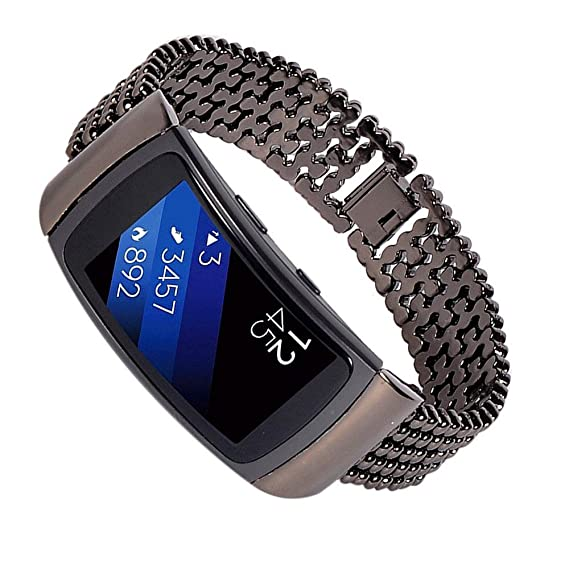 Jewh Stainless Steel Watch Band - Accessory Band - Bracelet Watchband for Samsung Gear Fit2 -