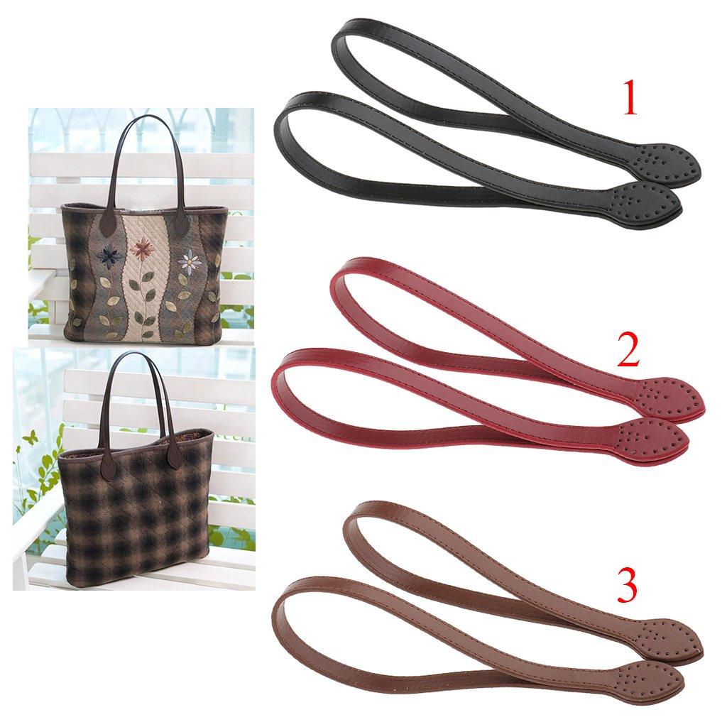 1 Paar Ledertasche Griff Taschenhenkel Taschengriffe f/ür Handtasche Weinrot