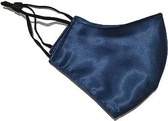 100% zijden gezichtsmasker, marineblauw, herbruikbaar zijden gezichtsmasker, wasbaar zijden gezichtsmasker, voorkomt masker, vriendelijk voor huid, 100% moerbeizijde gezichtsmasker