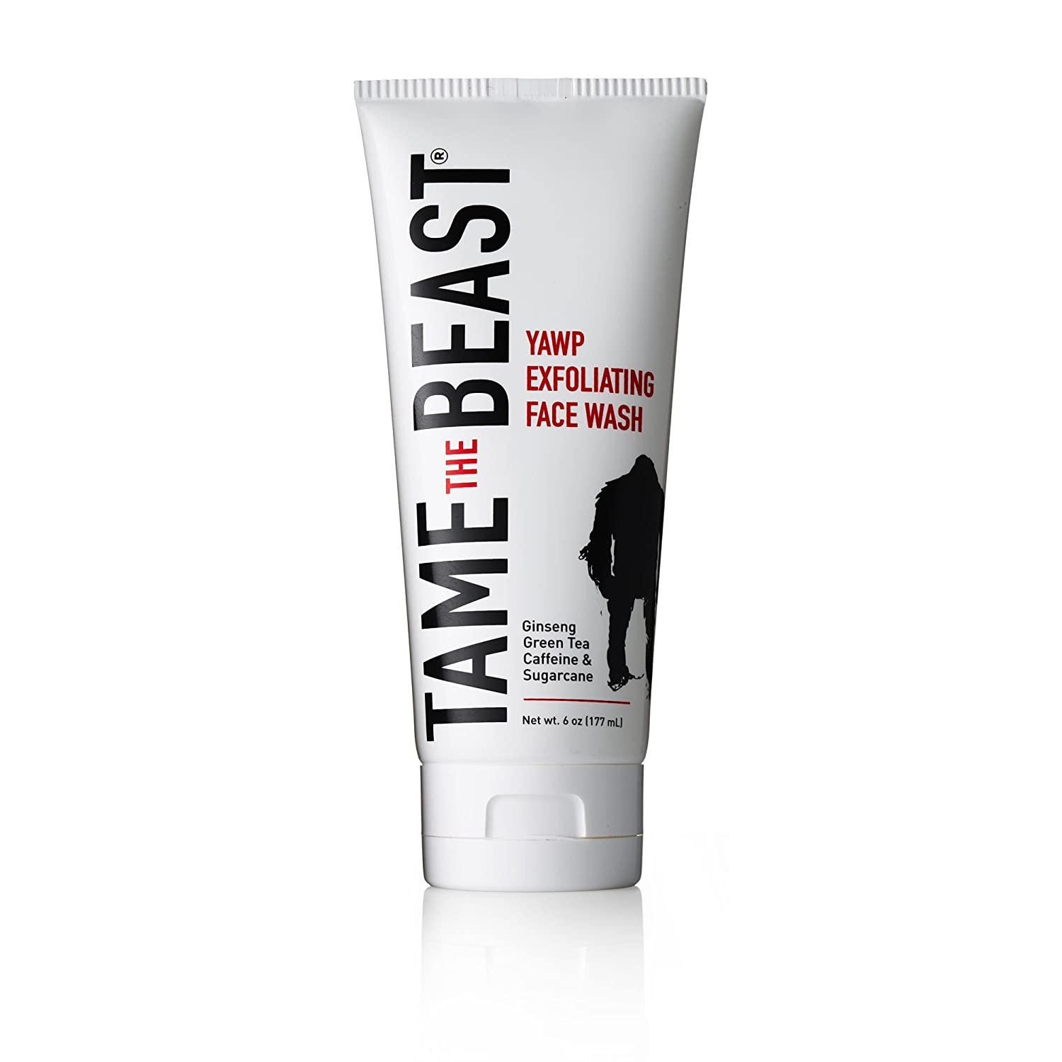 Men's Exfoliating Face Wash Tingle Facial Scrub with Peppermint, Ginseng, Green Tea, Caffeine, Pomegranate, Apple, Sugarcane, Vitamin E - YAWP by TAME the BEAST