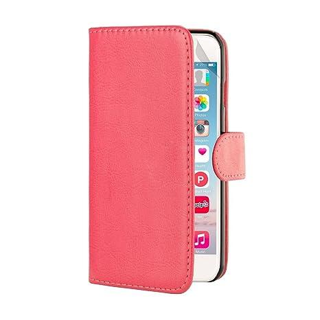 32nd® Funda Flip Carcasa de Piel Tipo Billetera para Apple iPhone 6 (4.7 pulgadas) con Tapa y Cierre Magnético y Tarjetero - Rosa