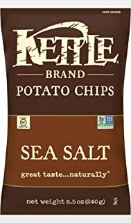 product image for Kettle Brand Potato Chips, Sea Salt, 8.5 Ounce Bags (Pack of 12)