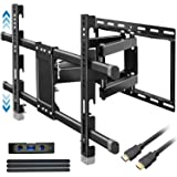 "Everstone Heavy Duty TV Wall Mount for 32-83"" TVs Dual Articulating Arm Tilt Swivel Full Motion Bracket Fit Most LED…"