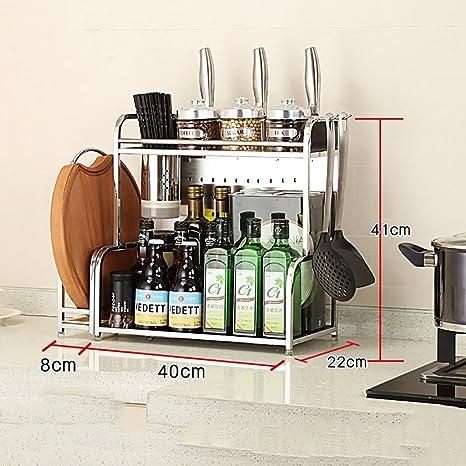 Amazon.com: Estantería de cocina multiusos para especias ...