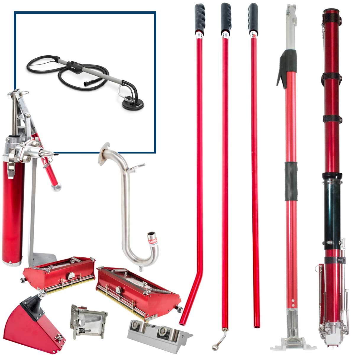 Level5 Full Drywall Taping / Finishing Set with PORTER CABLE 7800 SANDER and FREE Extendable Flat Box Handle