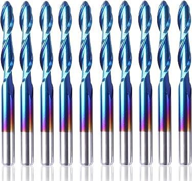 "SainSmart Genmitsu 10 x Nano Blue Coat End Mill CNC Router Bits 1.5-3.175mm 1//8/"""