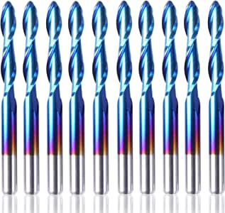 Pro 2 Flute Spiral Ball Nose End Mill Engraving Bit Router Cutter CNC Tool 2mm /&