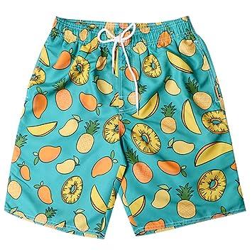 HMKYYJ Pantalones Cortos de Playa Casual Impresos para Hombre ...