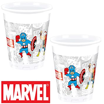 8 vasos * Avengers Team Power * Cumpleaños para niños o ...