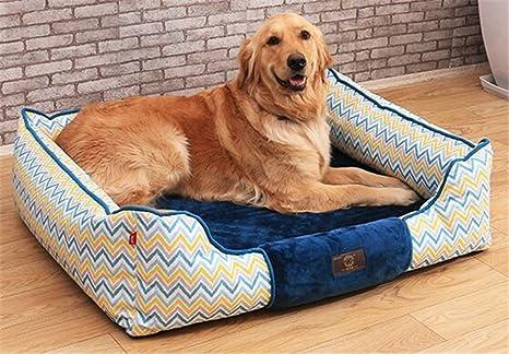 Bre Paño Oxford Impreso a la Moda Cama para Perro Cama Cuadrada Suministros de Mascotas Extraíble