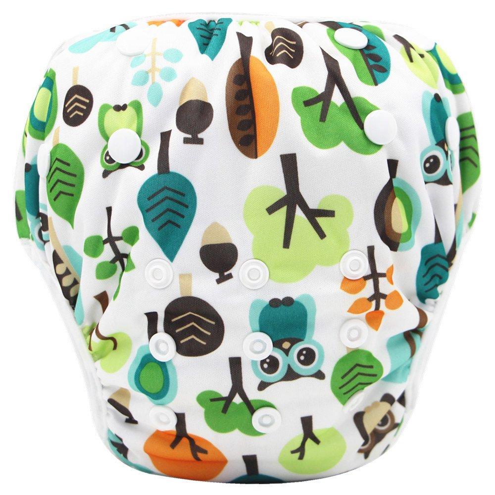 Topgrowth Cover Pannolini Lavabili Neonato Bambini Riutilizzabili Costumi da Bagno Carino Stampato Pantaloni da Nuoto per 0-3 Anni