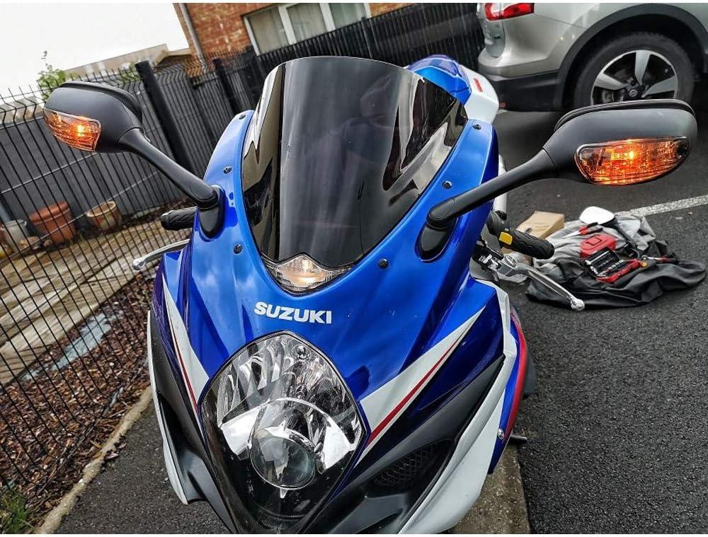 NO LOGO FSM-Espejos de revisi/ón 2pcs de la Motocicleta Espejo retrovisor for Suzuki GSXR 600 750 2006 2007 2008 2009 2010 GSXR 1000 2005 2006 2007 2008 K6 K7 K8 Color : Brown