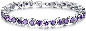OPK Jewellry Round 0.58ct. Classic & Graceful Cubic Zirconia CZ Tennis Bracelet For Women 7.2 inch Length mVLRYGsN8