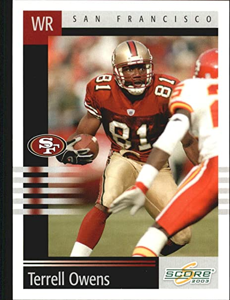 2003 Leaf Rookies and Stars #79 Terrell Owens NFL Football Trading Card