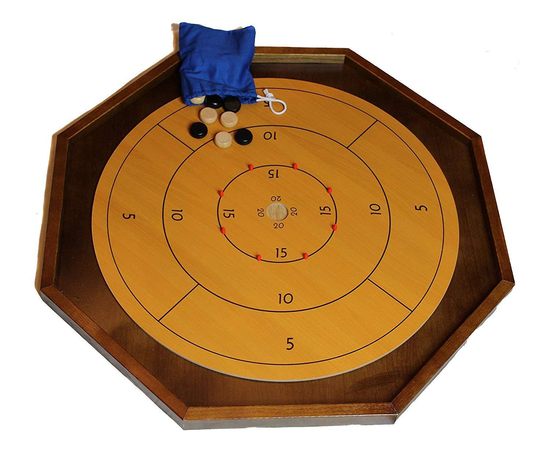 Crokinole ボードゲームテーブル 26インチ ボードワックス付き B07K9LY796