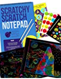 Purple Ladybug Rainbow Scratch Paper Art Kit for Kids: 20 Big Sheets of Rainbow Scratch Off Paper in a Notepad +2 Wooden Stylus! Great Gift for Girls, Boys & Teens, Airplane or Car Travel Activities!