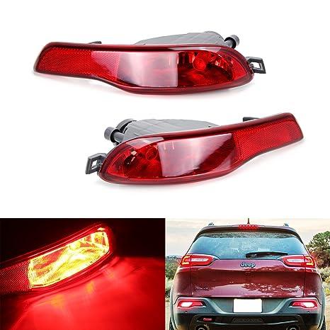 ijdmtoy Juego completo Kit LED de luz antiniebla trasera w/alta potencia LED rojo bombilla