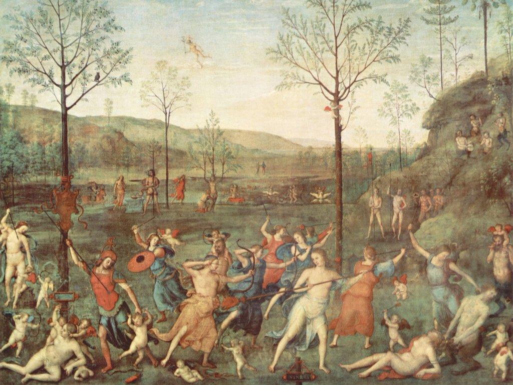 Lais Puzzle Pietro Perugino - Amor combatte Contro la castità 2000 Pezzi