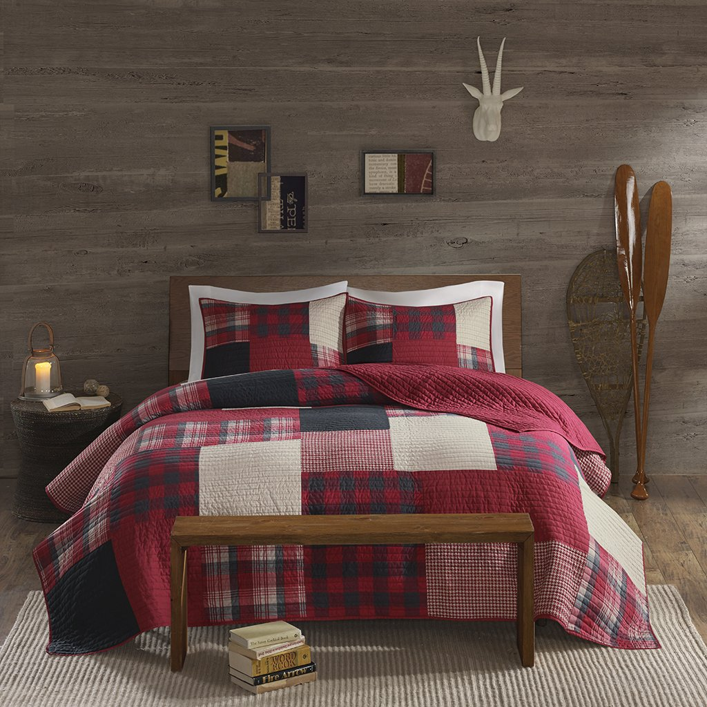Amazon.com: Woolrich WR14 1730 Sunset Coverlet Mini Set Full/Queen Red,Full/ Queen: Home U0026 Kitchen