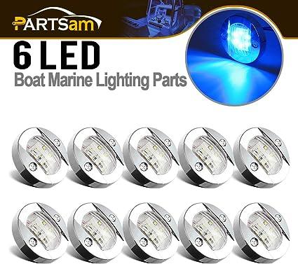 LED Round Transom Light Boat//Marine Platform Hull