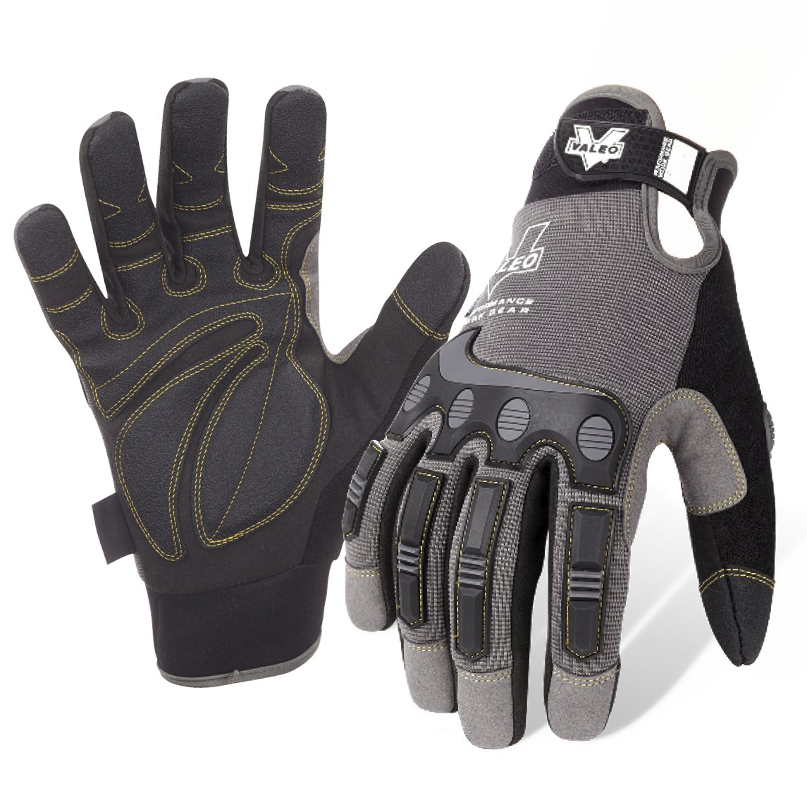 Valeo Industrial V412 Mechanics Impact and Anti-Vibe Pro Gloves, VI9548, Pair, Grey, XL