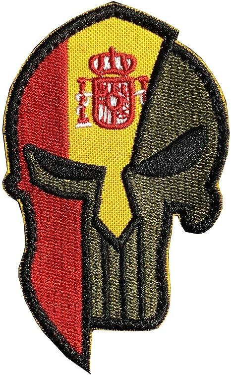Ohrong Bandera nacional de España Punisher Molon Labe Parche ...
