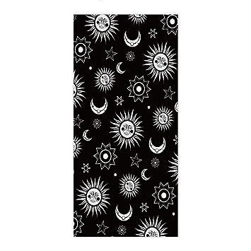 EZON-CH - Toalla de mano moderna, color blanco, diseño de luna,