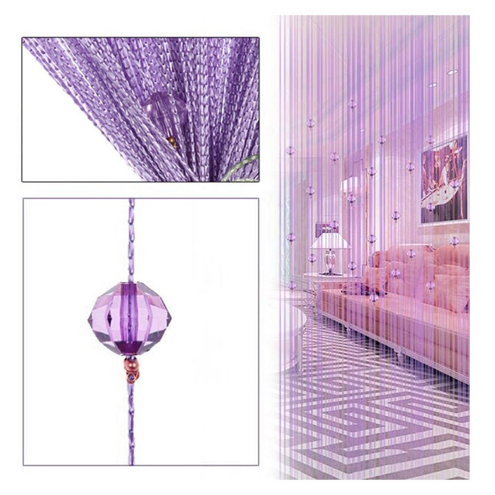 FOCUSSEXY Decorative Door String Curtain Beads Wall Panel Fringe Window Divider Blind Wedding Coffee House Restaurant Parts Crystal Tassel Screen Home Decoration Burgundy