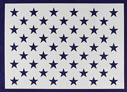 It's just a picture of American Flag Star Stencil Printable with regard to 36 star