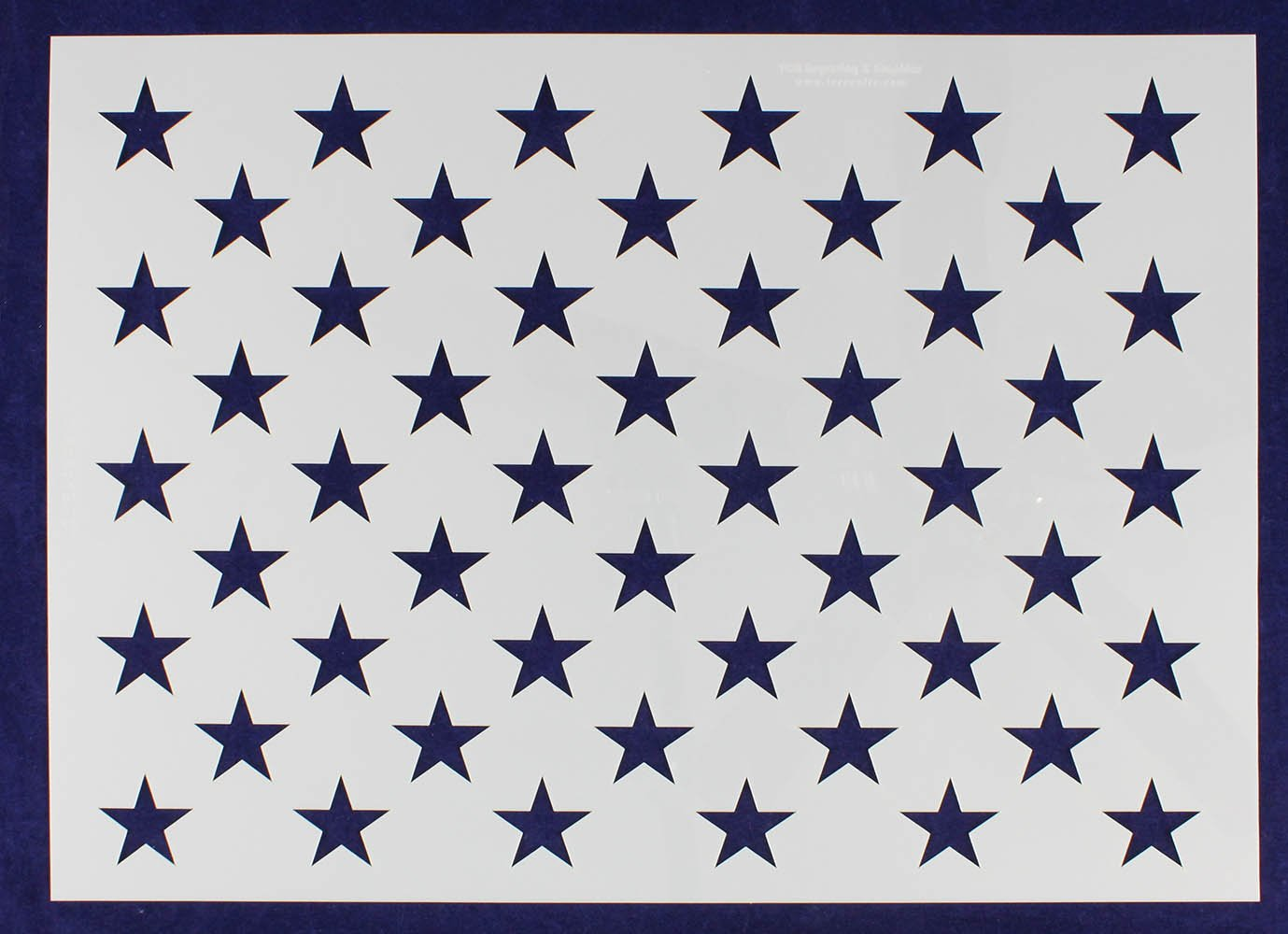 50 Star Field Stencil - US/American Flag - G-Spec 14''H x 19.76''L