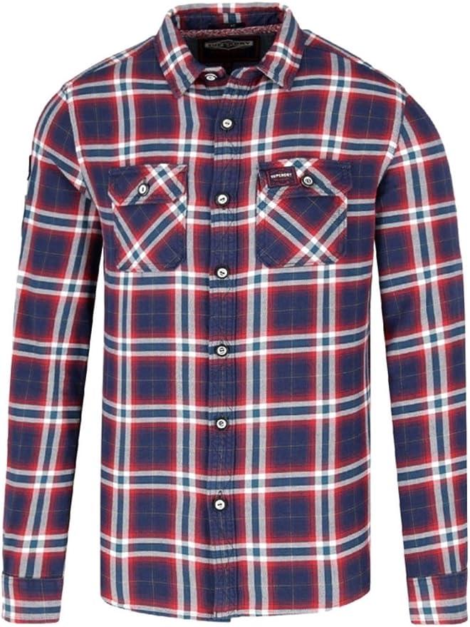 Superdry M40001IR Camisa Hombre Burdeos S: Amazon.es: Ropa y ...