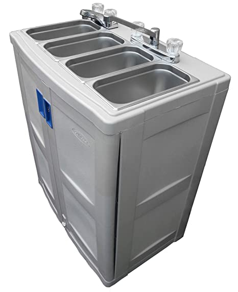 Portable 4 Compartment Sink.Portable Sink With Hot Water Mobile Concession 4 Compartment