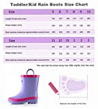 Outee Toddler Girls Kids Rain Boots Purple Natural