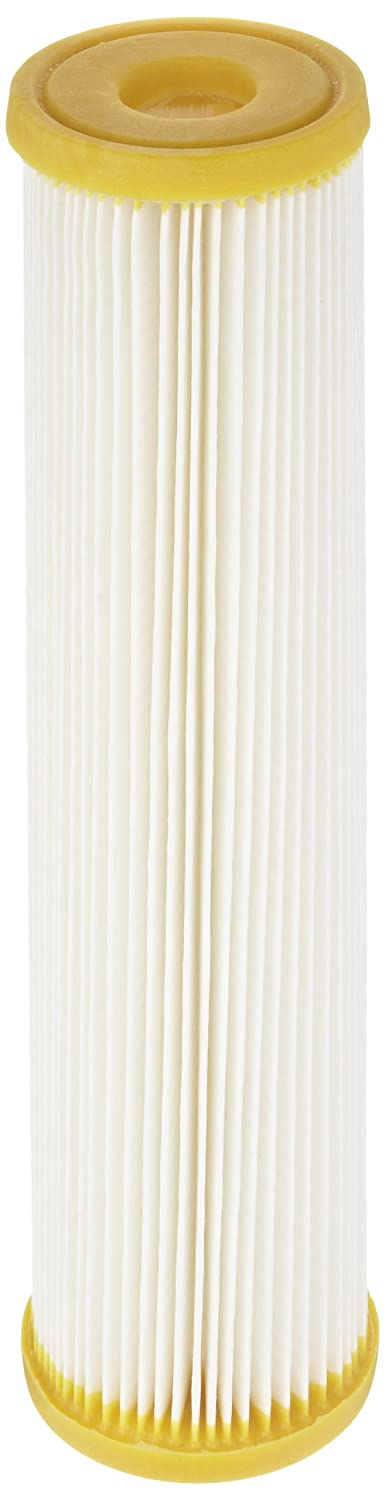 Pentek ECP50 10 Pleated Cellulose Polyester Filter Cartridge 9 3 4 x 2 5 8 50 Microns