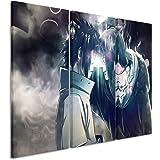Toile 3 pièces uchiha_brothers_naruto_3 x 90 x 40 cm-hauteur totale: 120 x 90 cm) _ausführung art wandbilder tableau sur toile sur châssis
